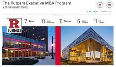 Rutgers Executive MBA Ranked #2 in Singapore, #15 globally by Ivy Exec